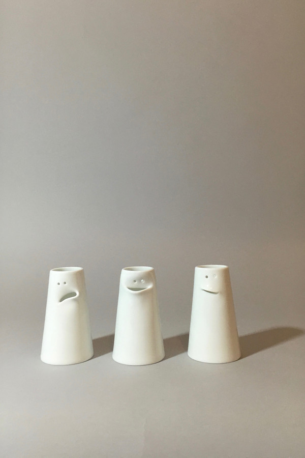 Spin Ceramics Faces Vase Set Garmentory