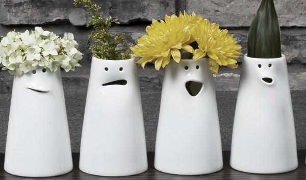 Spin Ceramics Faces Vase Set Garmentory