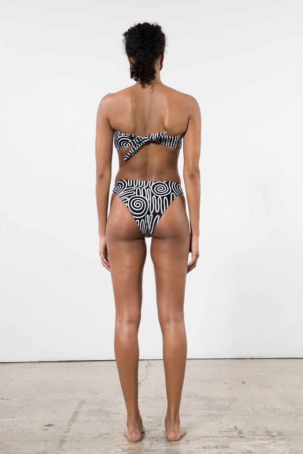 Mara Hoffman Reva Bikini Bottoms - Black/White