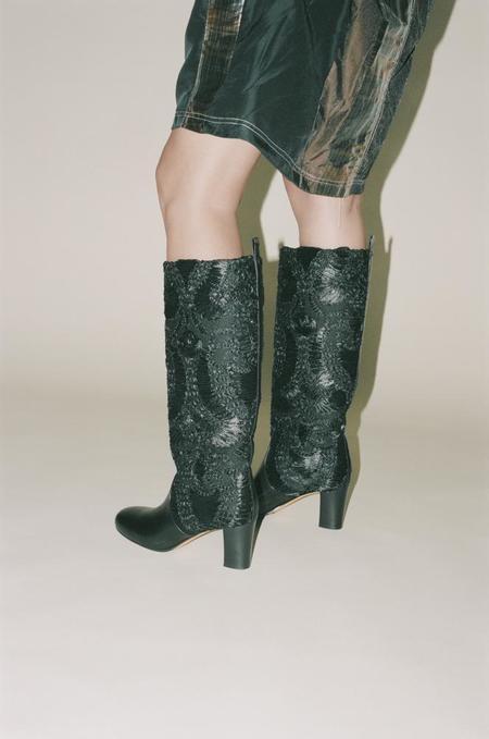 Maryam Nassir Zadeh Ivy Boot - Black Floret