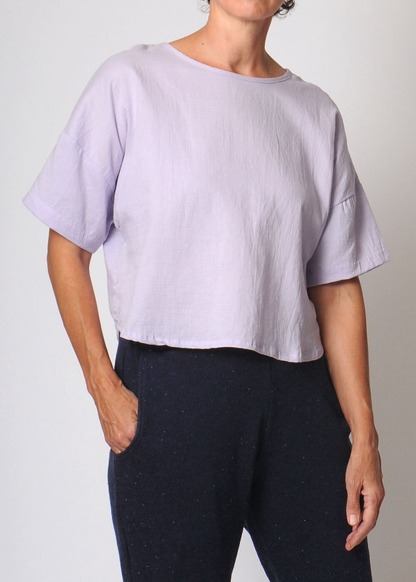 Conifer Crop Pullover Top - lavender