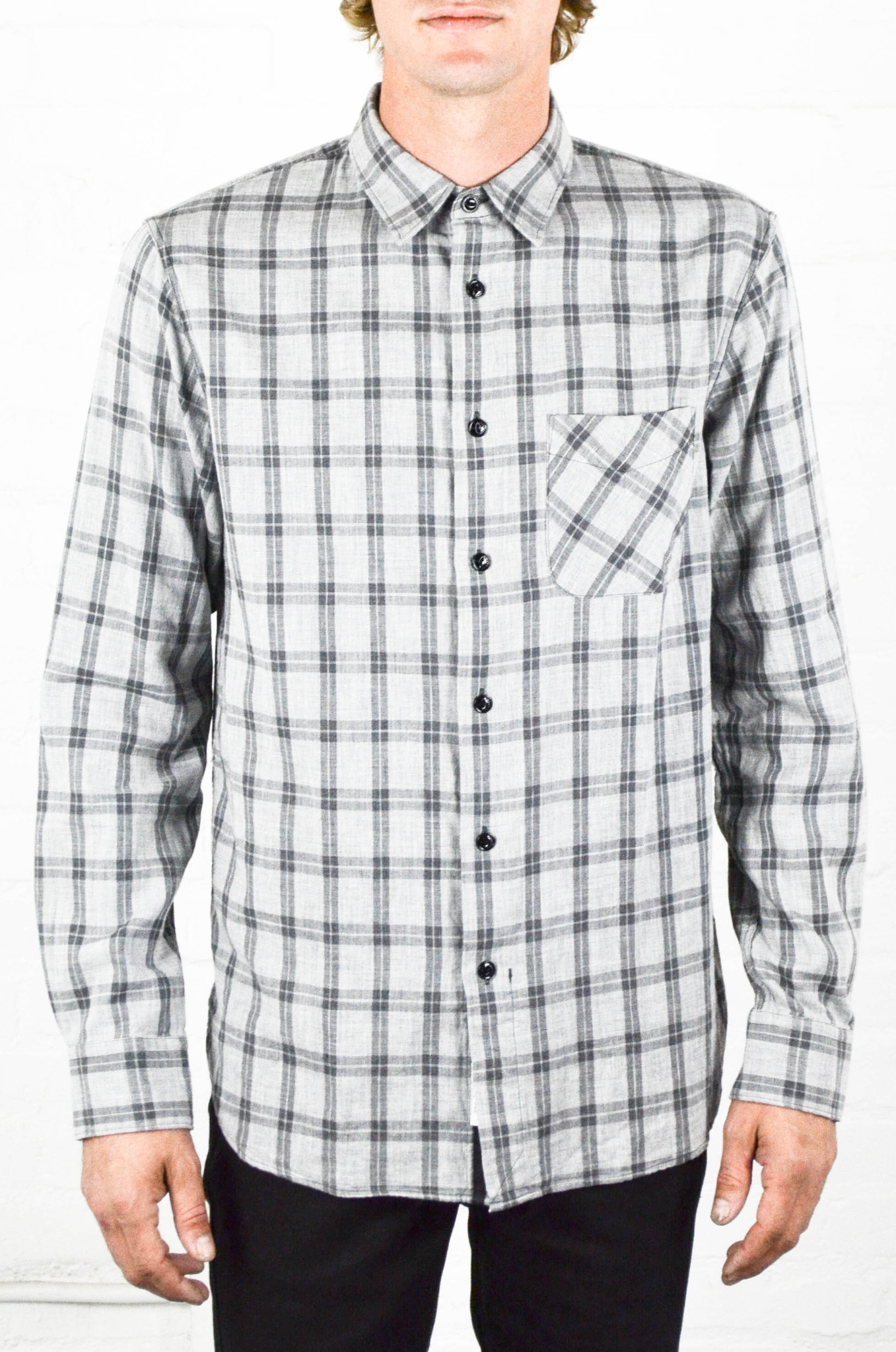 72f355a8fd Men's Rag and Bone Grey Check Beach Shirt