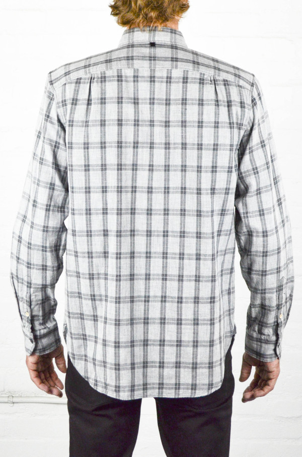 Men 39 S Rag And Bone Grey Check Beach Shirt Garmentory