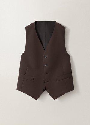 Lemaire Poly-Wool Slim-Fit Single Breasted Jacket - Dark Brown