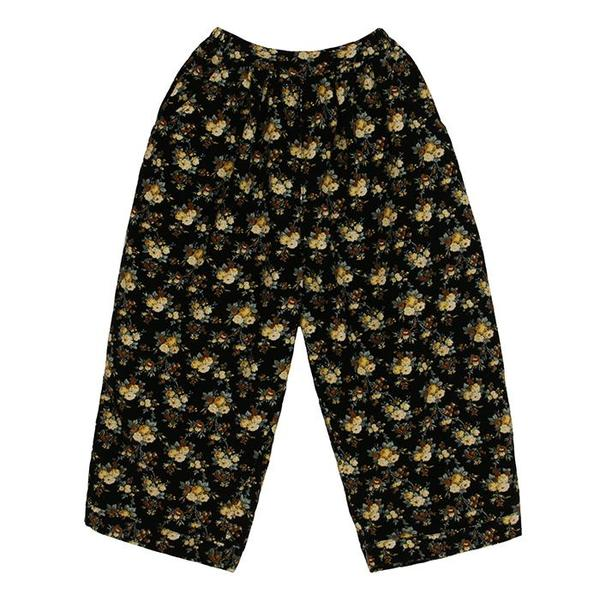 Kids Tambere Romont Corduroy Pants - Black/Floral Print