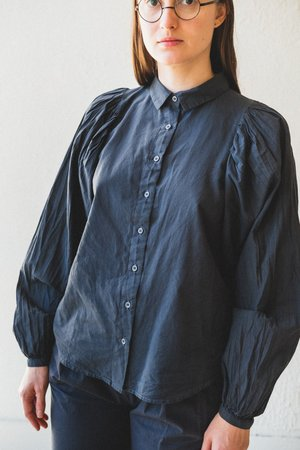 Caron Callahan Alastair Cotton Shirt - Charcoal Batiste