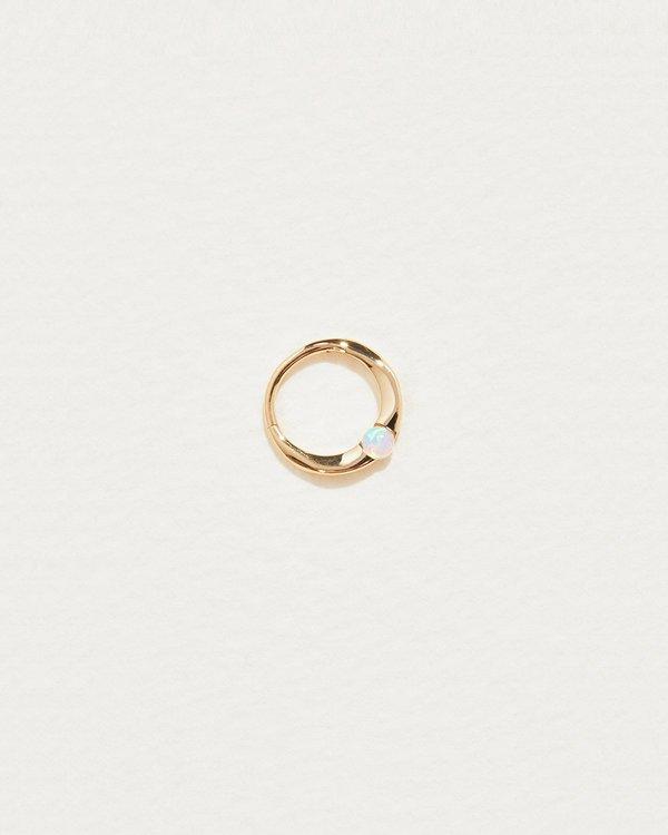 Pamela Love 8mm Floating Opal Clicker - 14k gold