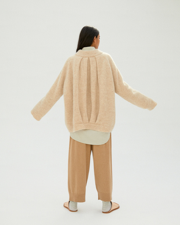 Monica Cordera Chunky Soft Alpaca Sweater - Beige