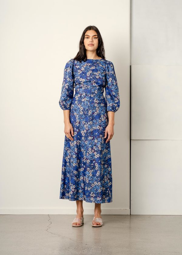 Penny Sage Robin dress - navy liberty floral