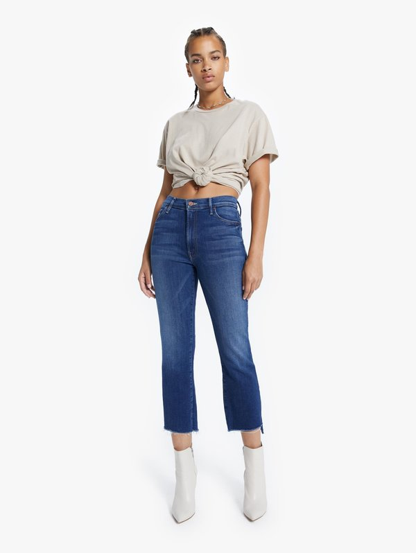 Mother Denim Insider Crop Step Fray Jeans - Sweet and Sassy