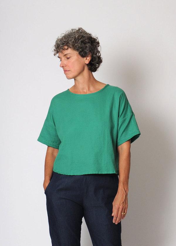 Conifer Crop Pullover Top - Green