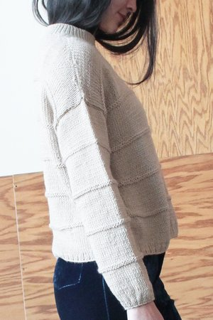 Colorant LAKEWOOD SWEATER - PEBBLE