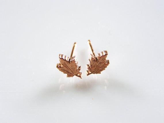 Micah Adams Penny Leaf Studs