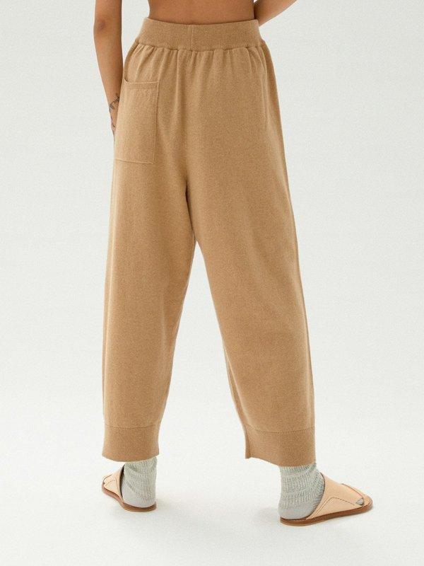 Monica Cordera Cashmere Knit Pants - Camel