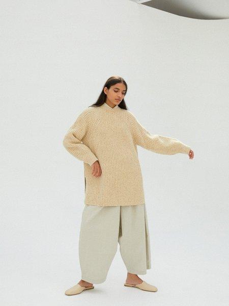 Monica Cordera Chunky Wool Sweater - Natural