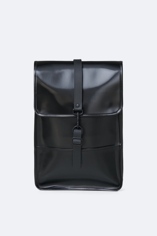 Rains backpack mini - shiny black