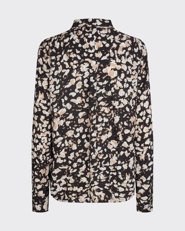 Minimum bilda long sleeve shirt - black
