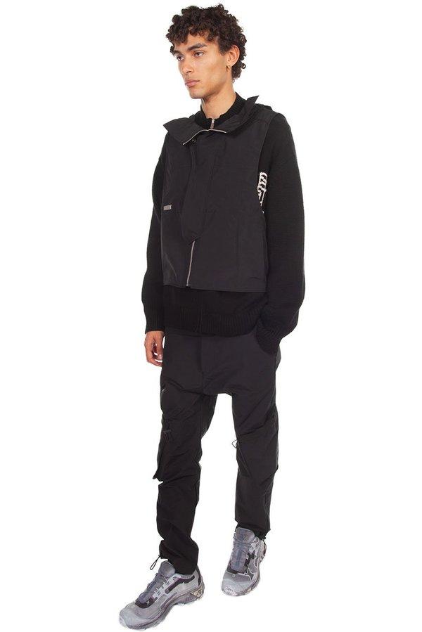 C2H4 Memory Layered Sweater - Black