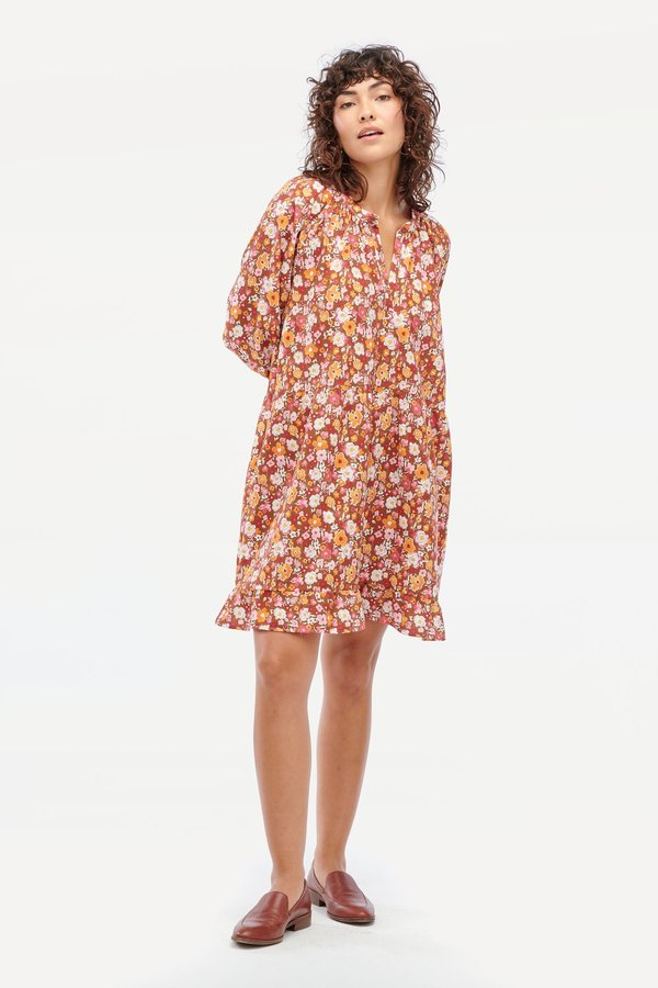 Lacausa Keyla Dress - Clay Watercolor Floral
