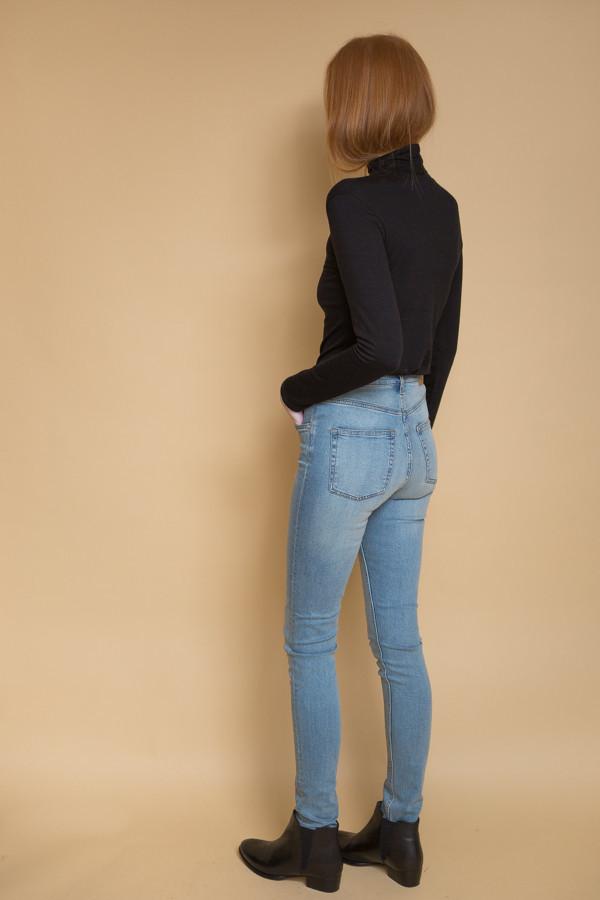 816bce1ef84c Cheap Monday Second Skin High Rise Jeans - Stonewash Blue | Garmentory