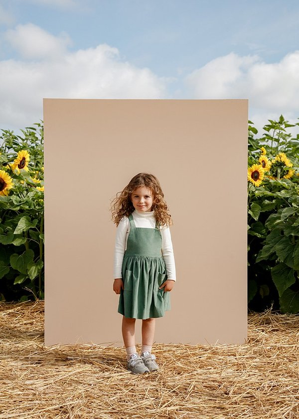 Kids Petits Vilains Inès Pinafore Dress - Lichen
