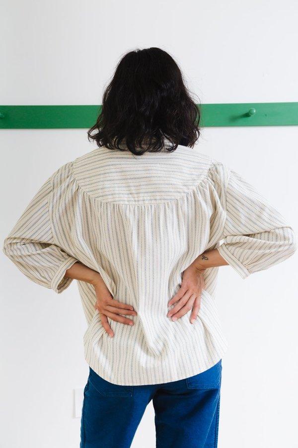 Caron Callahan Claire Top - Ticker Stripe