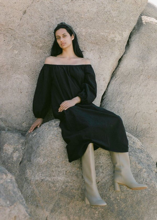 Ozma Ana Manta Cotton Dress - Black