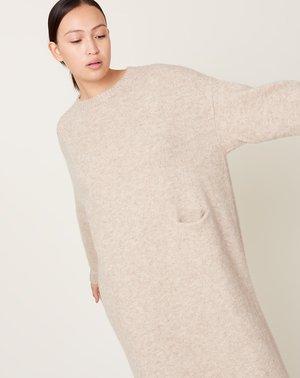 Lauren Manoogian Fluffy Crewneck Dress - Hay