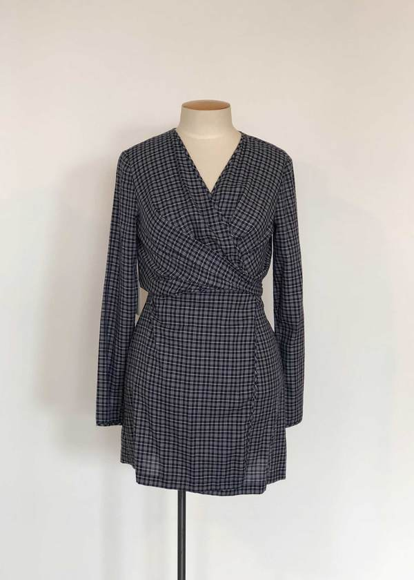 Not specified Darcy Dress (Navy Check Sample)