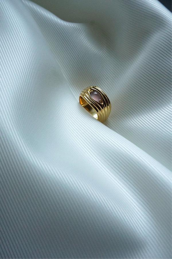 MM DRUCK PEEKABOO  RING - GOLD