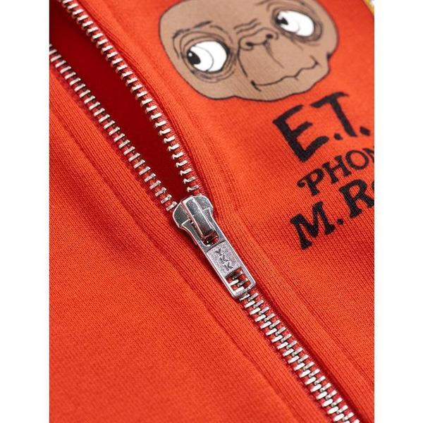 kids mini rodini E.T. patch zip up sweatshirt - red