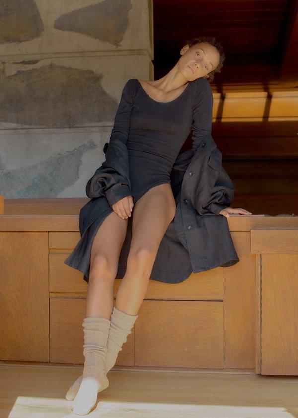 Ozma Audrey Heavy Laundered Linen Shirt Jacket - Black