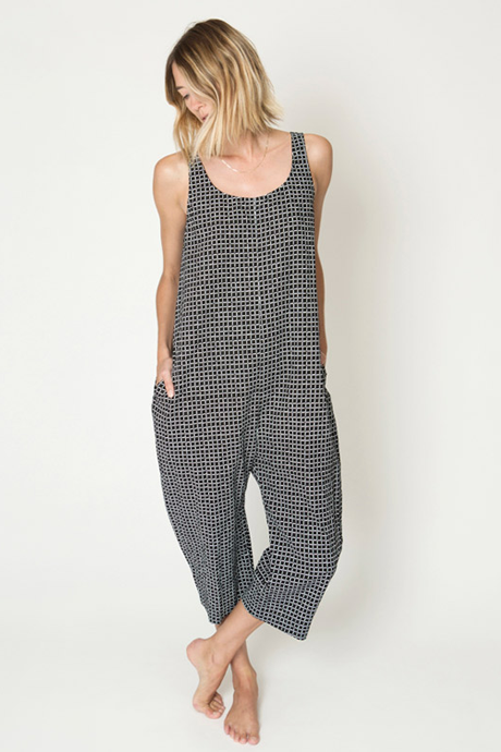 Gary Jumpsuit Black Grid