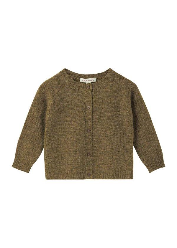 Kids Caramel Guillemot Baby Cardigan - Moss