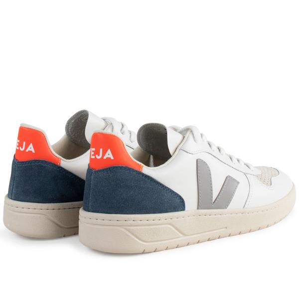 Veja v-10 leather White Grey Orange
