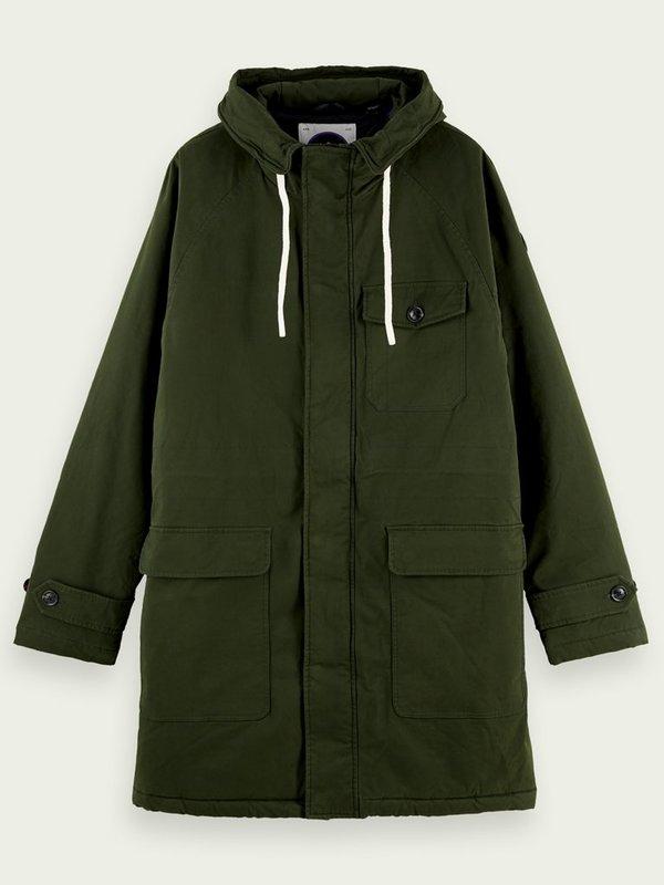 Scotch & Soda Parka Jacket - Army