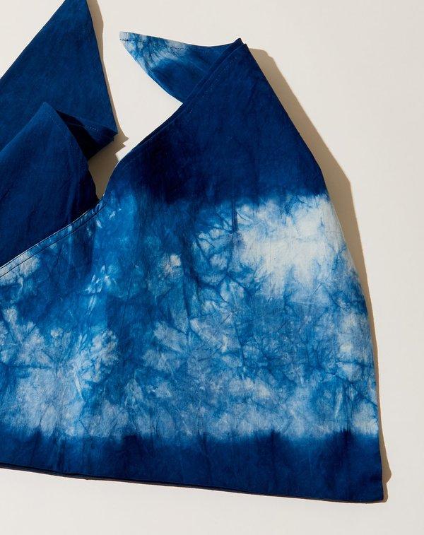 ICHI ANTIQUITES Indigo Hand Dye Bag - Pattern A