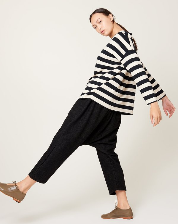 ICHI ANTIQUITES Knit Pants - Black