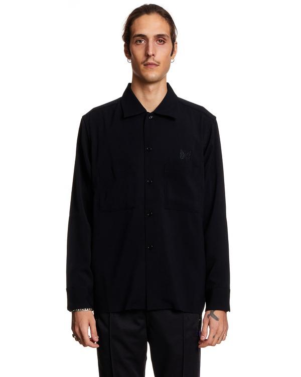 Needles Long Sleeved Shirt Jacket - Black