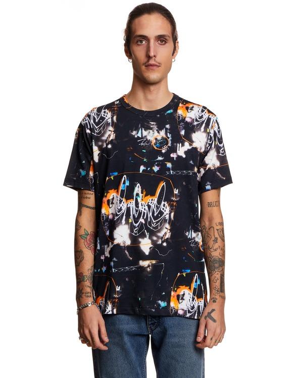 Comme des Garçons Futuristic Print T-shirt - black