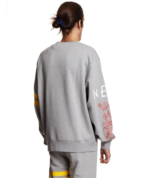 GCDS Over Nascar Sweatshirt - Gray
