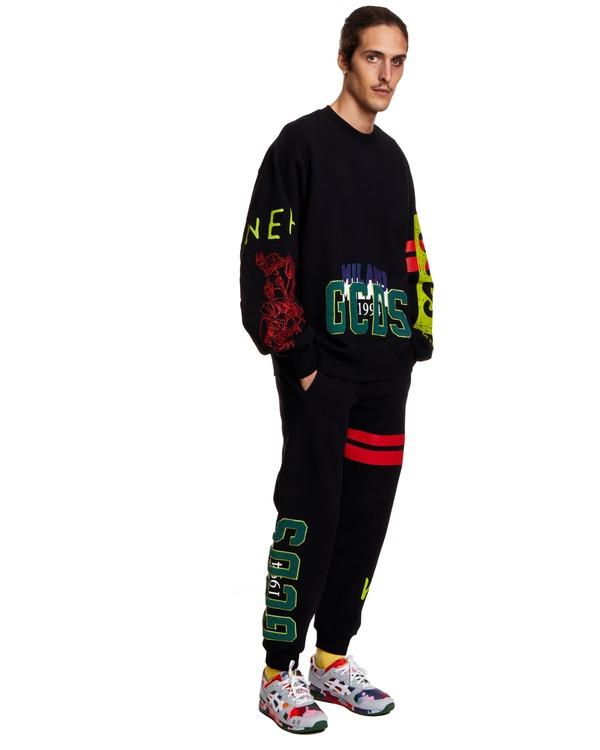 GCDS Over Nascar Sweatshirt - Black