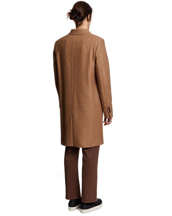 Ami Paris Single Breasted Coat - Beige
