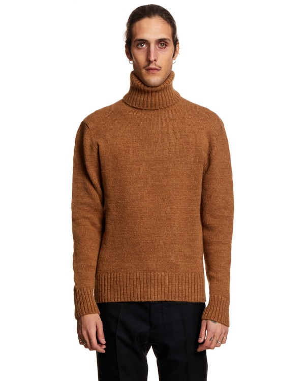 Ami Paris Turtleneck Sweater - Beige
