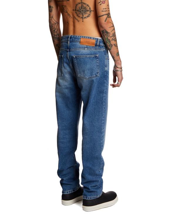 Ami Paris Straight Crop Jeans - Blue