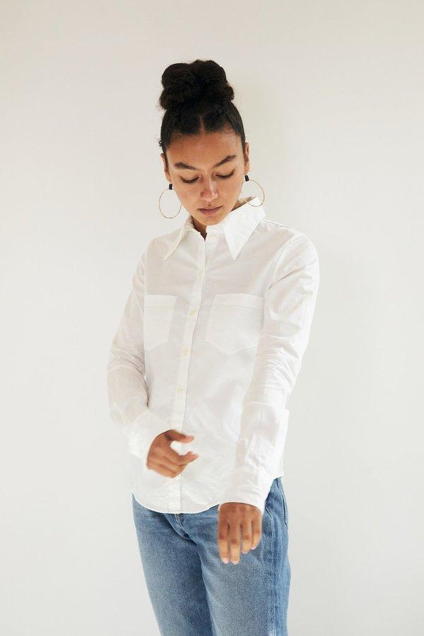 HAZEL BROWN Button Up Shirt - White