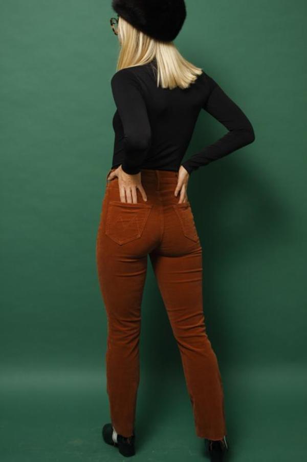Mother Denim Mother Hustler Ankle Fray Jeans - Coconut Shell