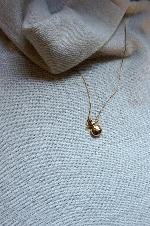 MM DRUCK PERFUME BOTTLE NECKLACE - 18K Gold VERMEIL