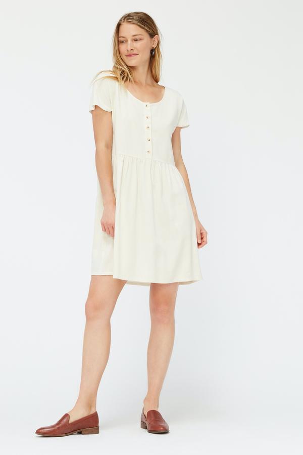 Lacausa Buena Silk Mini Dress - Natural
