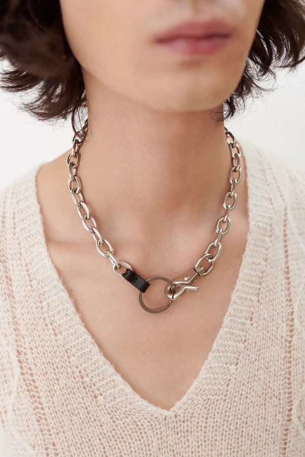Our Legacy Matte Silver Brass Ladon Necklace or Wallet Chain